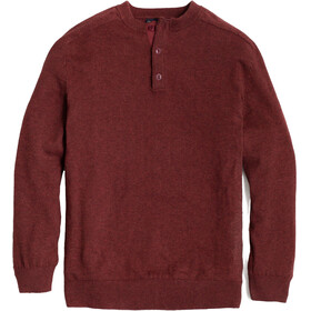 United By Blue Merino Blend Suéter Henley Hombre, plum